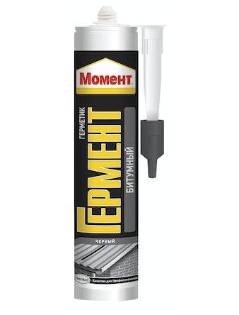 Герметик битумный для крыш Гермент, черный, 300 мл