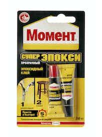Клей МОМЕНТ Супер Эпокси прозрачный, 2 х 6 мл