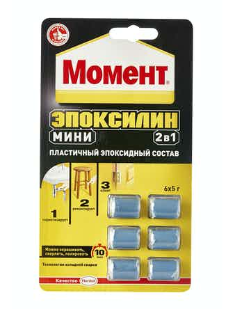 Клей МОМЕНТ Эпоксилин 2 в 1 мини 6 х 5 гр