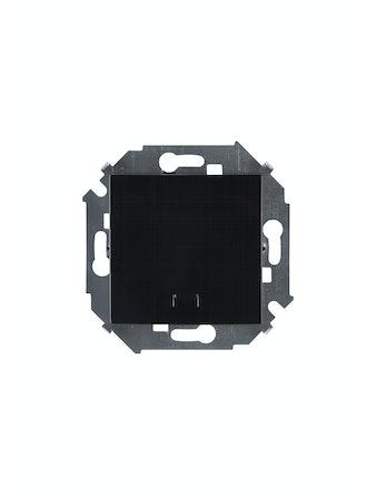 Выключатель 1-клавишный Simon15, с подсветкой, черный глянец
