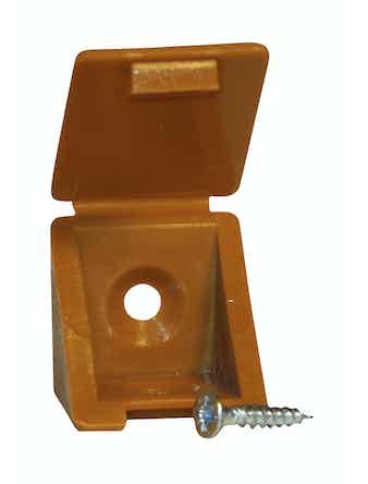 Мебельный уголок с шурупом - вишня (4шт)