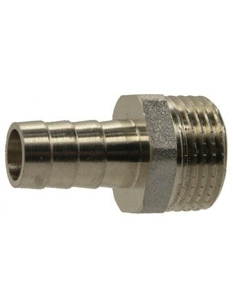 Штуцер НР 1/2-10 мм никель