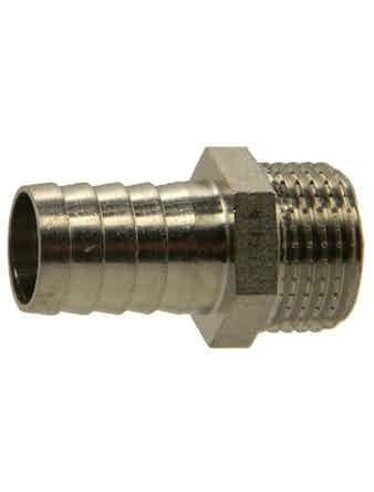 Штуцер НР 1/2-18 мм никель