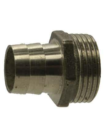Штуцер НР 3/4-25 мм никель