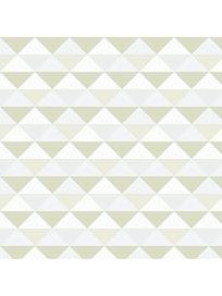 Миниролл Треугольники, 50 х 160 см, бежевый