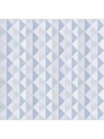 Миниролл Треугольники, 60 х 160 см, бирюзовый