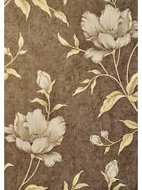 Виниловые обои Маякпринт Лантана 4020-9, 1,06 х 10 м, коричневые