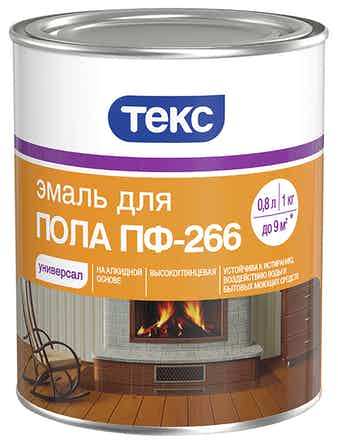 Эмаль д/пола ПФ-266 желто-кор. 1кг ТЕКС