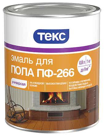 Эмаль д/пола ПФ-266 красно-кор. 1кг ТЕКС