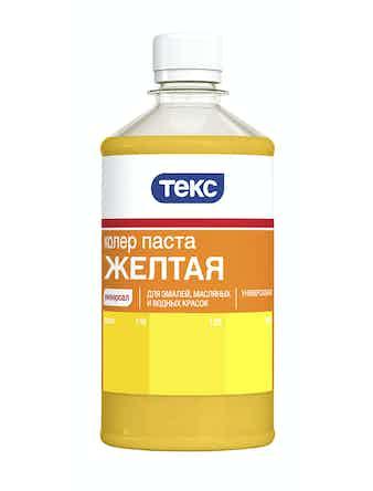 Колер паста универс. Желтая 0,5л ТЕКС