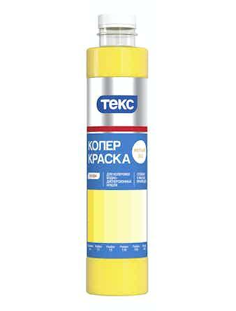 Колер краска №3 ТЕКС, матовая, желтая, 0,75 л
