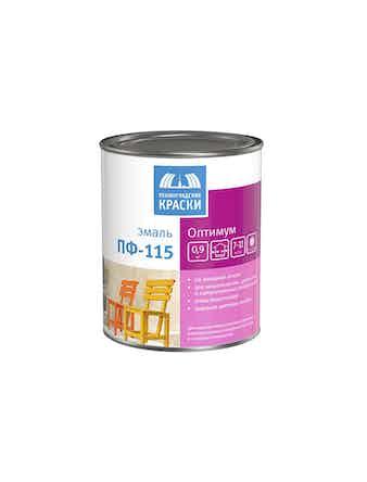 Эмаль Ленинградские краски ПФ-115 Оптимум, матовая, белая, 0,9 кг