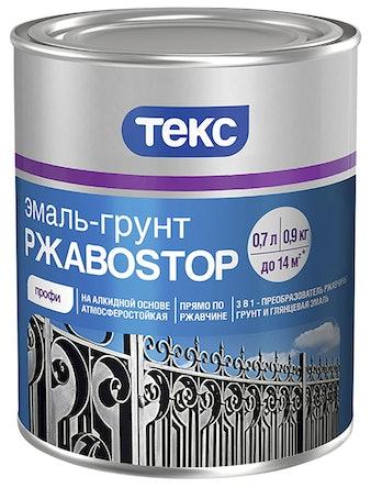 Эмаль-грунт РжавоStop зеленая 0,9кг ТЕКС