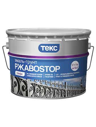 Эмаль-грунт ТЕКС РжавоStop, глянцевая, коричневая, 10 кг