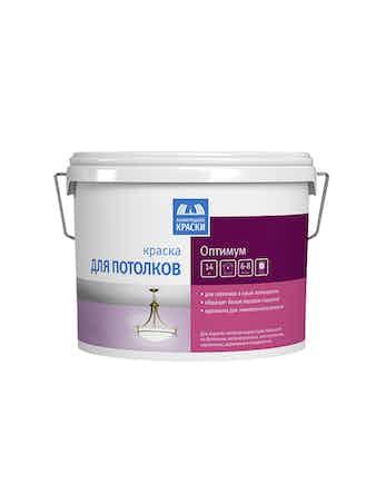 Краска водно-дисперсионная для потолка Ленинградские краски Оптимум 14 кг