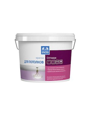 Краска для потолка Текс Оптимум водно-дисперсионная 7 кг