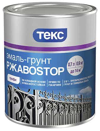Эмаль-грунт РжавоStop красная 0,9кг ТЕКС