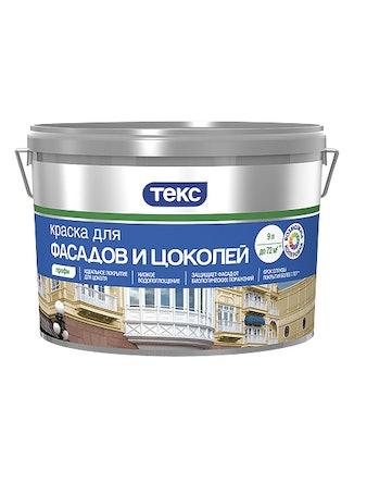 Краска д/Фасад и Цоколей А 9л Профи ТЕКС