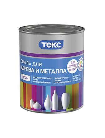 Эмаль для дерева и металла ТЕКС Профи А глянцевая 0,9 л