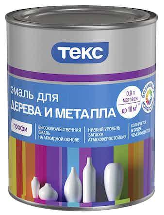 Эмаль для дерева и металла ТЕКС Профи А 0,9 л матовая