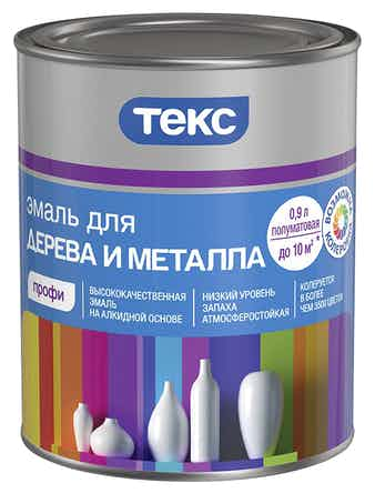Эмаль для дерева и металла ТЕКС Профи А 0,9 л полуматовая