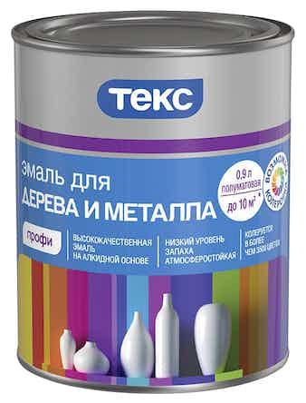 Эмаль для дерева и металла ТЕКС Профи D 0,9 л полуматовая