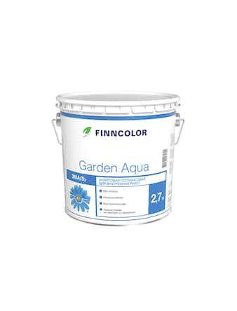 Эмаль акрил.Finncolor Garden Aqua А 2,7л