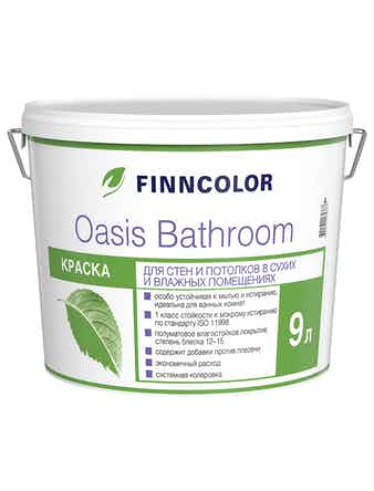 Краска Oasis Bathroom A, полуматовая, 9 л