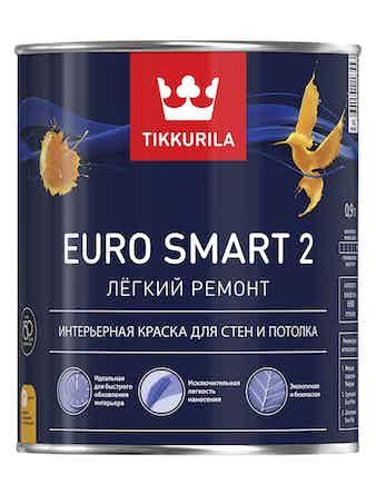 Краска Tikkurila Euro Smart2 VVA, матовая, 0,9 л