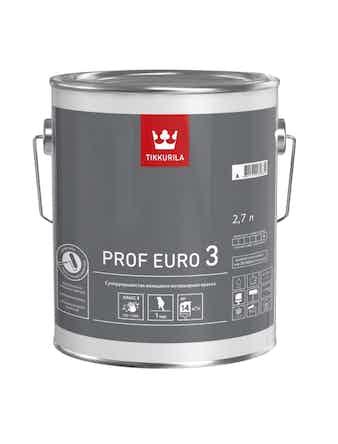 Краска Tikkurila Prof Euro 3 A, матовая, 2,7 л