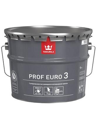 Краска Tikkurila Prof Euro 3 A, матовая, 9 л