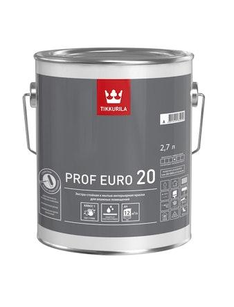 Краска Tikkurila Prof Euro 20 A, полуматовая, 2,7 л