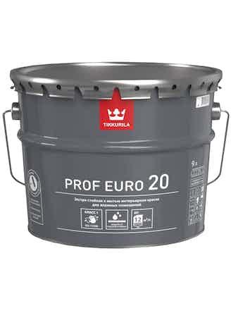 Краска Tikkurila Prof Euro 20 A, полуматовая, 9 л
