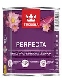 Краска интерьерная износостойкая Tikkurila Perfecta, основа C, глубоко матовая, 0,9 л, бесцветная