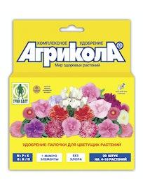 Удобрение-палочки для цветущих растений Агрикола, 20 шт.