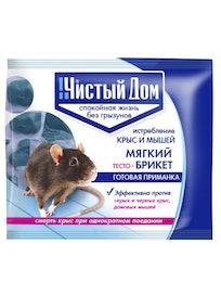 Тесто-брикет от крыс Чистый дом, 200 г