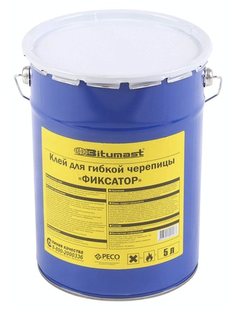 Клей для гибкой черепицы Bitumast, 5 л