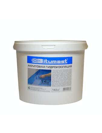 Мастика гидроизоляционная акриловая Bitumast, 14 кг