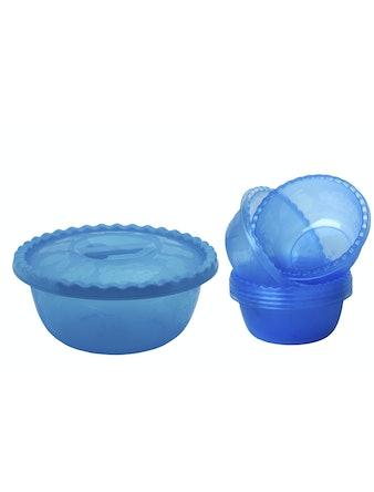 Набор для салата синий, диаметр 25 см