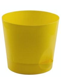 Горшок Ника D15 с прикор.поливом желтый