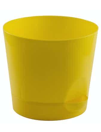 Горшок Ника D18 с прикор. поливом желтый