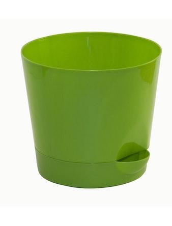 Горшок Ника D18 с прикор.поливом зеленый