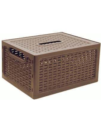 Ящик с крышкой Ротанг, 28 х 18 х 13 см, бежевый