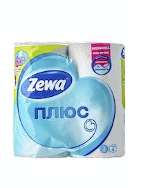 Бумага туалетная Zewa Plus, двухслойная, белая, 4 шт.