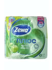 Бумага туалетная Zewa с ароматом яблока, двухслойная, 4 шт.