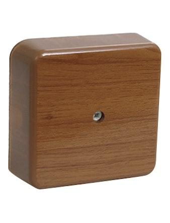 Коробка КМ41212-05 расп. для о/п 75х75х20мм дуб (с конт.гр)