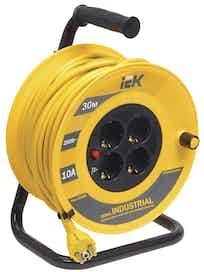 Удлинитель на катушке IEK 4P, 3 х 1,5 мм2, 30 м