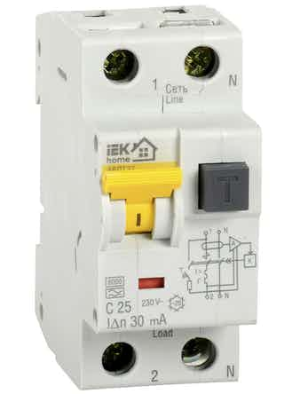 Автомат дифференциального тока IEK Home 1п+N 25А 32С