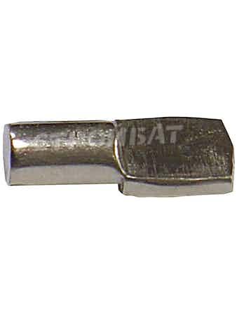 Полкодержатель лопаточка 5х17 ник. (12 шт)