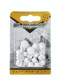 Заглушки декоративные Element, 8 мм, белые, 35 шт.